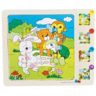 Puzzle lemn JigSaw, Puzzle educativ multistrat 3 – 4 ani.