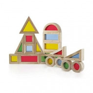 Set Rainbow Blocks GuideCraft 20 piese, Joc Montessori.