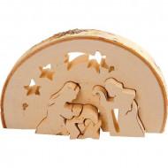 Decoratiune din lemn Craciun, mini puzzle lemn, Small Foot.