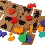 Puzzle tip incastJoc educativ din lemn Ghiceste a cui este umbra. Joc Montessori.ru - Joc educativ din lemn Ghiceste a cui este umbra.