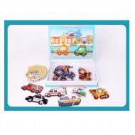 Joc educativ puzzle magnetic, Vehicule. Carte magnetica.