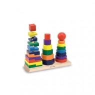 JucarieSortator din lemn Forme Geometrice, Jucarie lemn Montessori.