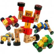 Jucarie din lemn Robot Transformers, Jucarie modelabila.