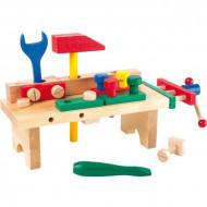 Jucarie lemn Banc de lucru Micul Mester, Small Foot Wooden Toys.