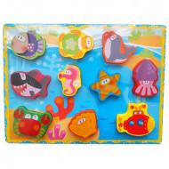 Puzzle incastru 3D Marin. Puzzle educativ Montessori.