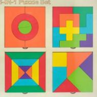 Joc creativ Tetris Tangram, 6 in 1.