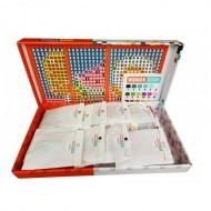Joc educativ din lemn Mozaic Pixel SWEETS, Joc distractiv Codul Culorilor Cubika