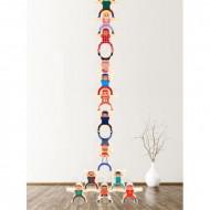 Joc Montessori din lemn Clovni in echilibru. Joc de echilibru.