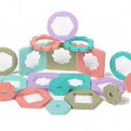 Jucarie educativa, Sortator forme geometrice, 4 coloane, pastelat.