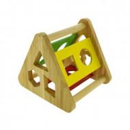 Jucarie Sortator Incastru din lemn, forme geometrice. Jucarie Montessori.