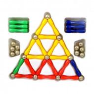 Pachet MagnetSpiel, 50 + 37 piese magnetice. Set joaca constructie magnetic.