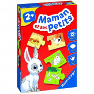Puzzle bebe din 2 piese Mama si puiul, Ravensburger.