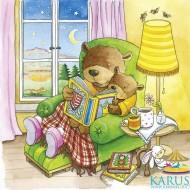 Puzzle multistrat O zi din viata unui ursulet, Goki