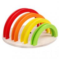 Set Creativ Curcubeu 14 piese, Rainbow Circle Montessori