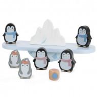 Joc de echilibru Balanta cu Pinguini din lemn, Jucarie educativa Montessori.