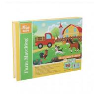 Joc educativ puzzle magnetic, Ferma cu animale. Carte cu piese magnetice.