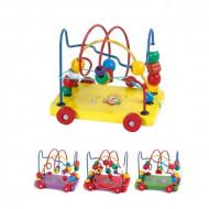 Jucarie bebe Labirint lemn, Traseu indemanare cu snur. Jucarii si Jocuri Montessori din lemn.
