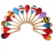 Jucarie Maracas lemn pentru copii. Jocuri si Jucarii Montessori din lemn.