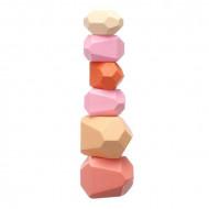 Pietre Montessori din lemn- joc de echilibru