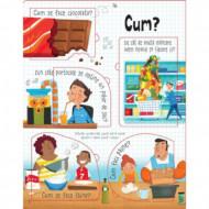 Intrebari si raspunsuri despre hrana, carte Usborne in limba romana.