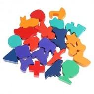 Puzzle tip incastru - Joc educativ din lemn Ghiceste a cui este umbra. Joc Montessori.educativ din lemn Ghiceste a cui este umbra.