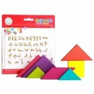 Joc educativ Tangram. Joc Montessori.