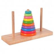 Jucarie educativa Turnul din Hanoi, Piramida 10 inele.