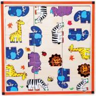 Puzzle Safari, Animale Salbatice. Jucarii din lemn Small Foot.