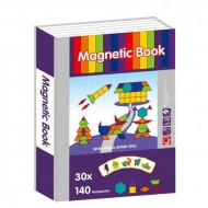 Carte magnetica PlayBook Tangram, 170 piese.