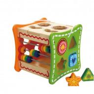 Cub cu activitati, 5 in 1, Jucarie pentru bebe.
