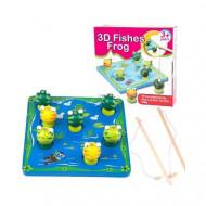 Joc de pescuit Broscutele 3D, Fishes Frog.