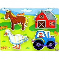 Joc de snuruit pentru copii, Jucarii si Jocuri Montessori din lemn