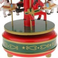 carusel muzical din lemn