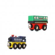tren magnet jucarie lemn
