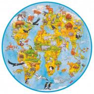 Puzzle JigSaw circular World, Lumea noastra. Goki.