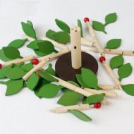 Set joaca Copac cu Frunze, Jucarie de indemanare Montessori.