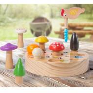 Joc de indemanare Ciocanitoarea vesela, Joc de pescuit Mushroom Picking Toys.