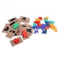 Puzzle tip incaJoc educativ din lemn Ghiceste a cui este umbra. Joc Montessori.stru - Joc educativ din lemn Ghiceste a cui este umbra.