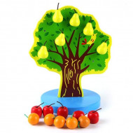 copac-cu-mere-si-pere-magnetice-joc-lemn-dexteritate