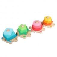 Jucarie Sortator din lemn Broscute colorate. Jucarii si Jocuri Montessori din lemn.