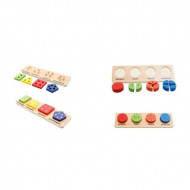 Pachet Happy Montessori, Incastru forme geometrice.