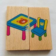 Puzzle lemn tip Domino