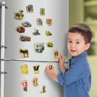 Set cifre din lemn cu magnet, 23 piese. Cifre magnetice pentru copii.