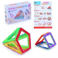 Set de constructie magnetic 3D. Magic Magnetic 9 piese.
