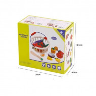 Set joaca Fructe cu magnet pentru taiat si feliat, Cosuletul cu fructe. Joc de rol.