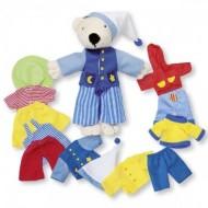Timba, set Îmbracă Ursuleţul - Goki, Ursulet cu haine.