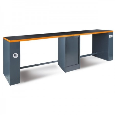 Poze Banc de lucru dublu, 4m, portocaliu C55PRO-BO/D4