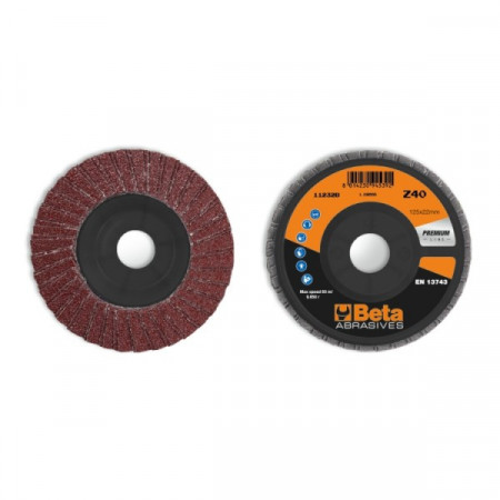 Poze Disc dublu lamelar abraziv din corindon pentru slefuit, spate plastic, Ø125mm, PREMIUM LINE 11232B