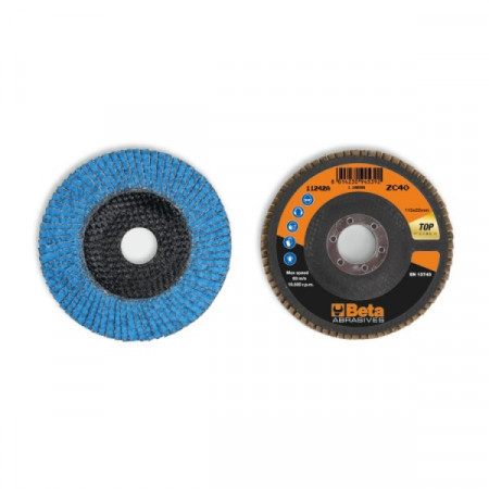 Poze Disc lamelar abraziv cu zirconiu-ceramic, spate fibra de sticla, Ø115mm TOP LINE 11242A