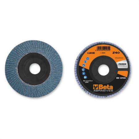 Poze Disc lamelar abraziv pentru slefuit, zirconiu, Ø125 mm, PREMIUM LINE 11200B